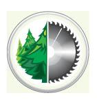 логотип Волго-окский деревообрабатывающий комбинат, г. Нижний Новгород